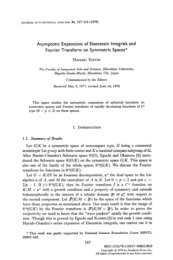 Asymptotic Expansions of Eisenstein Integrals and Fourier ...