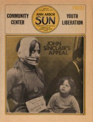 community center youth liberation john sinclair's appeal - Ann Arbor ...