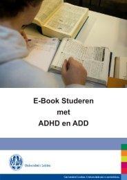 E-Book Studeren met ADHD en ADD - O - Universiteit Leiden