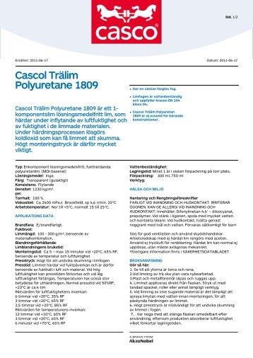 Cascol Trälim Polyuretane 1809