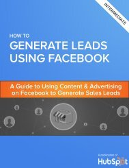 GENERATE LEADS USING FACEBOOK