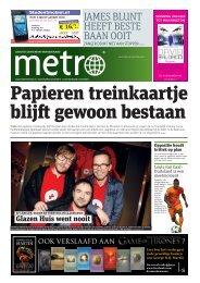 Papieren treinkaartje blijft gewoon bestaan - Metro