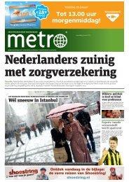 Nederlanders zuinig met zorgverzekering - Metro