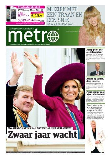 Zwaar jaar wacht - Metro