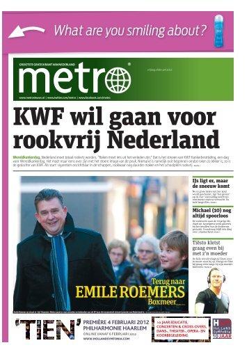 KWF wil gaan voor rookvrij Nederland - Metro
