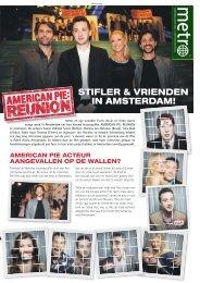 STIFLER & VRIENDEN IN AMSTERDAM! - Metro