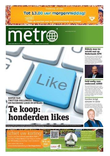 Te koop: honderden likes - Metro