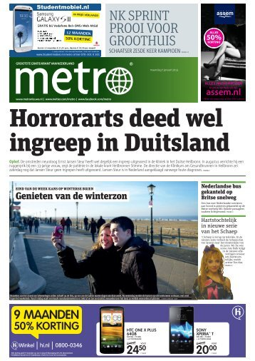 Horrorarts deed wel ingreep in Duitsland - Metro