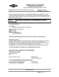Veiligheidsinformatieblad - The Dow Chemical Company