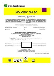 MOLOPO* 500 SC - The Dow Chemical Company