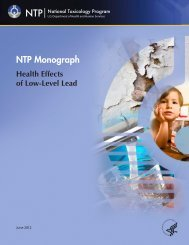 NTP Monograph on Health Effects of Low-Level Lead - National ...