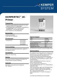 KEMPERTEC® 1K- Primer - KEMPER SYSTEM