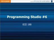Programming Studio #6 - Course Website Directory