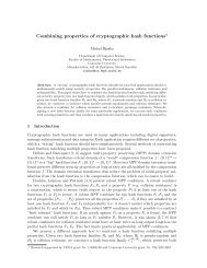 Combining properties of cryptographic hash functions⋆ - Cryptology ...