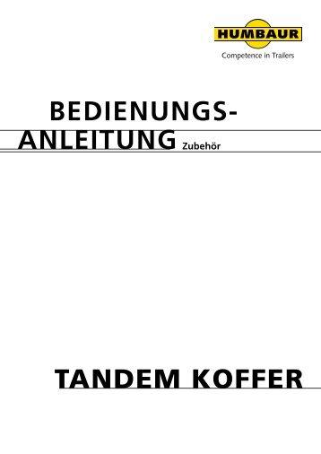 bedienungs- anleitung Tandem Koffer
