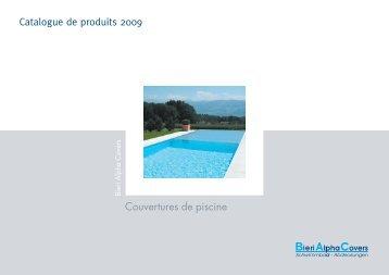 Couvertures de piscine Catalogue de produits 2009