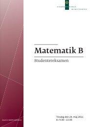 Matematik B - Undervisningsministeriet