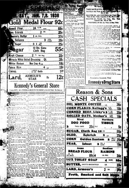01-05-1938 - Village of Pinckney