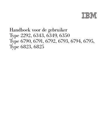 Handboek voor de gebruiker - Ibm