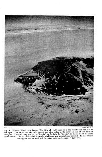 NORTHERN ELLESMERE ISLAND, 1953 AND 1954