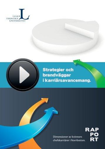 Strategier och brandväggar i karriärsavancemang. - Luleå University ...