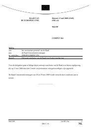 9663/09 cle/JEL/lm 1 DG C 1A RAAD VA DE EUROPESE U IE ...