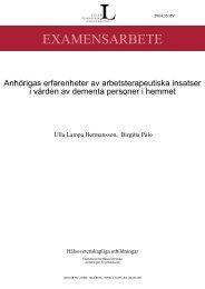 LTU-HV-EX--04/35--SE - Publikationer - LTU - Luleå tekniska ...