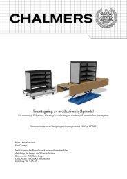 Hjälpmedel för montering av inredning i servicebil - Chalmers ...