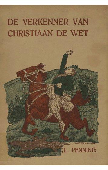 DE VERKENNER V CHRISTIAAN DE WET