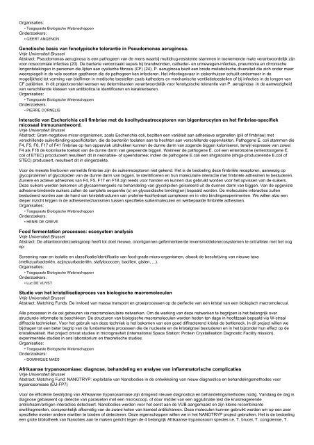 Onderzoeksprojecten (320 - 330 van 485)