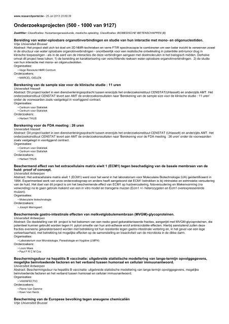 Onderzoeksprojecten (500 - 1000 van 9127)