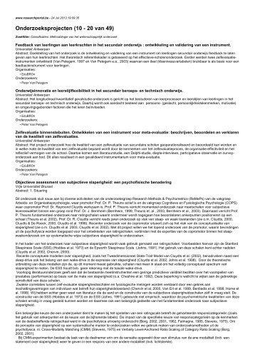 Onderzoeksprojecten (10 - 20 van 49)