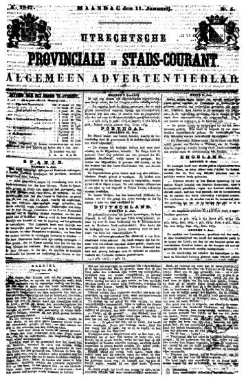 Utrechtsche provinciale en stads-courant : algemeen advertentieblad