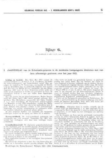 KOLONIAAL VERSLAG VAN 1913