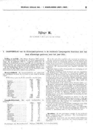 Koloniaal Verslag van 1916