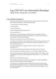 Lagen om ekonomiska föreningar - SBC