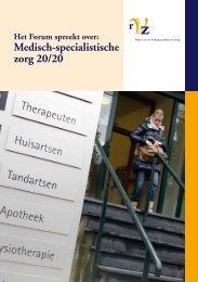 Medisch-specialistische zorg 20/20 - RVZ - Raad voor ...