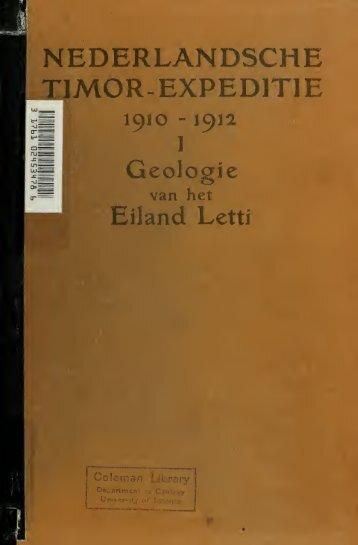 Nederlandsche Timor-expeditie, 1910-1912. Beschreven door GAF ...