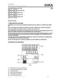 1 Säkerhetsanvisningar 2 Enhetens konstruktion ... - Download - Gira
