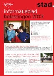 Informatieblad gemeentelijke belastingen 2013