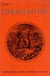 HERMENEUS jrg 58-1986 nummer 1 - Tresoar
