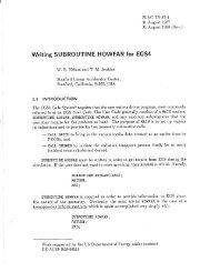 Writing SUBROUTINE HOWFAR for EGS4 - SLAC