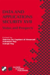 Data and Applications Security XVII - FTP Directory Listing