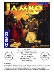 Jambo Kosmos, 2004 DORN Rüdiger 2 spelers vanaf 12 jaar ± 45 ...