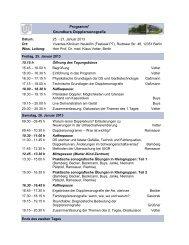 Programm* Grundkurs Dopplersonografie