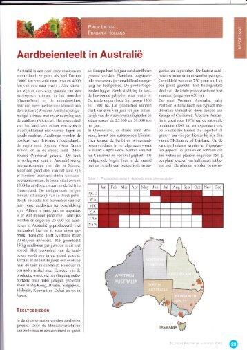 Aardbeienteelt in Australië - Fragaria Holland