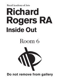 Richard Rogers RA - The Royal Academy of Arts