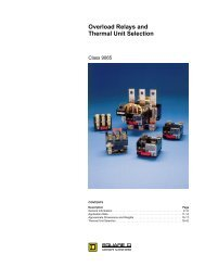 Overload Relays & Thermal Unit Selection