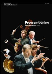 Programtidning, Östersjöfestivalen 2008 (pdf) - Sveriges Radio