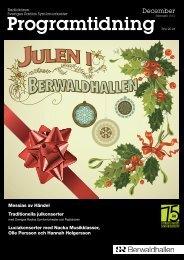 Programtidningen Berwaldhallen December 2011 ... - Sveriges Radio